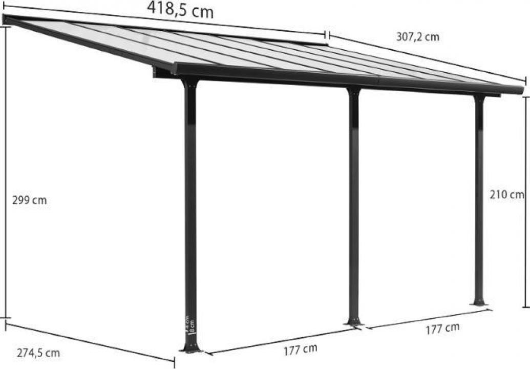 Pergola pentru terasa Hera