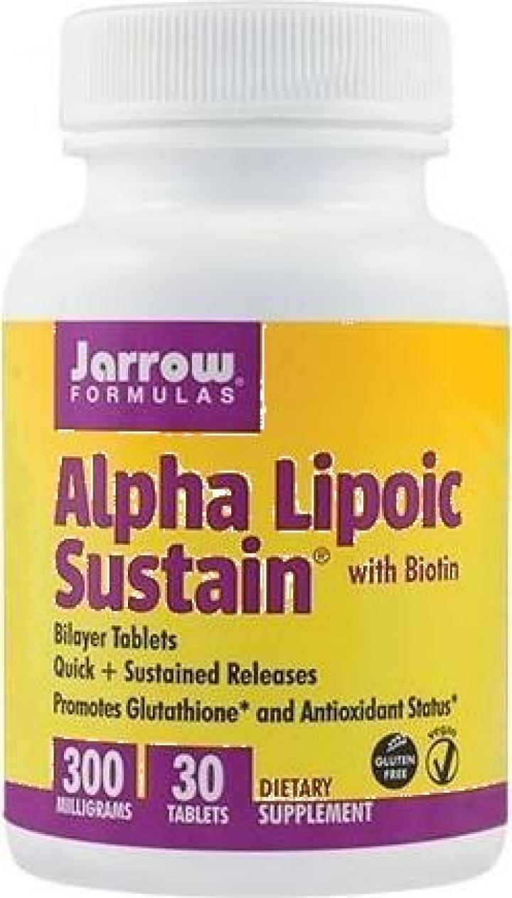 Supliment alimentar Alpha Lipoic Sustain 300mg - 30 cps