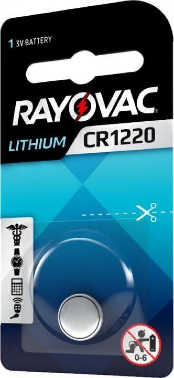 Baterie CR 1220 Litiu Rayovac 3V (CR1220)
