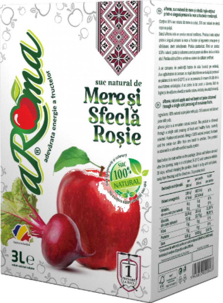 Suc natural de mere si sfecla rosie - Aroma 3 L