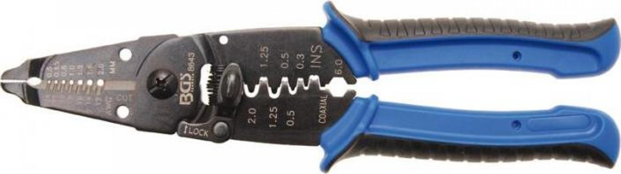 Cleste de sertizat, taiat si dezizolat cabluri BGS8643