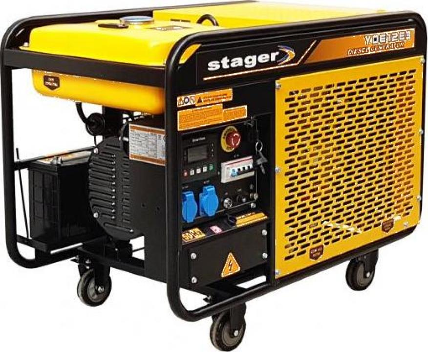 Generator open frame diesel trifazat, 8kW, Stager YDE12E3