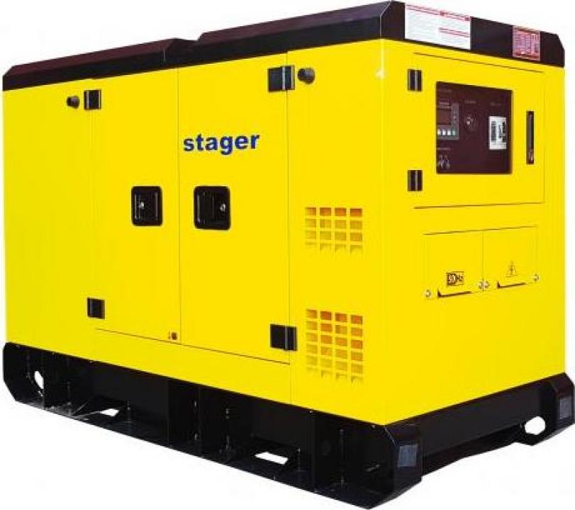 Generator silent Stager YDY242S3, diesel, 242kVA