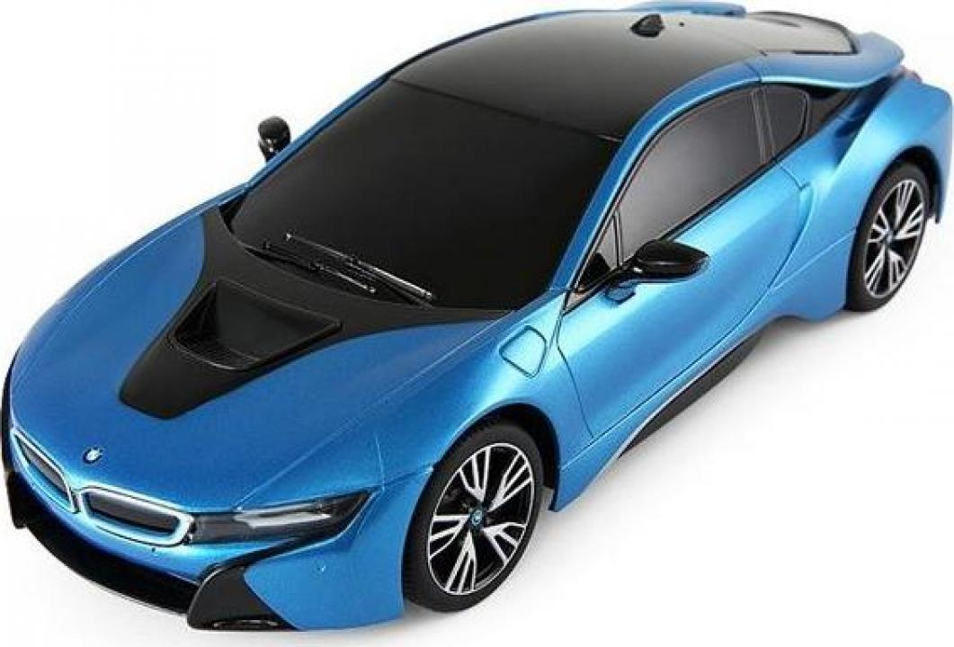 Macheta Masina Rastar BMW i8 1:18 RTR cu telecomanda