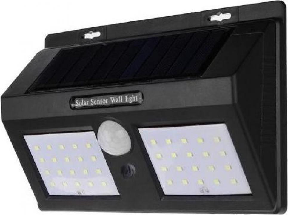 Lampa 40led incarcare solara senzori miscare si lumina