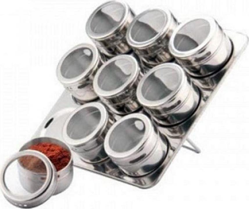 Set magnetic pentru condimente 10 piese Bohmann BH7816